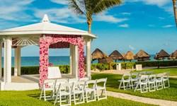 Ocean Blue & Sand Wedding Venue